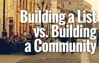 BuildingAListVSBuildingACommunity