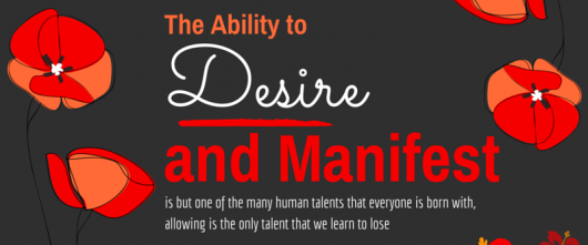 #55 The ability to desire and manifest is but one of the many human talents that everyone is born with…