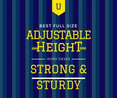 Best Full Size Adjustable Height Work Tables – strong and sturdy stand up desks